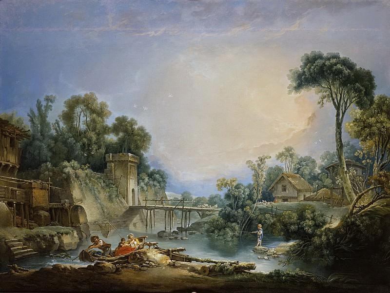 The Rustic Bridge, Francois Boucher