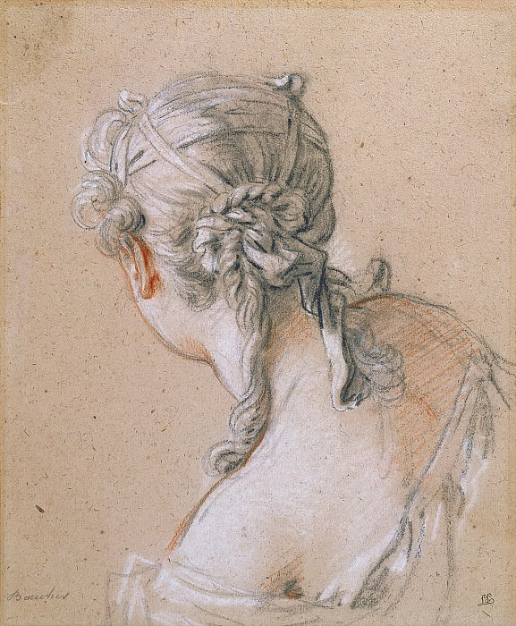 Head of a Girl from Behind, Francois Boucher