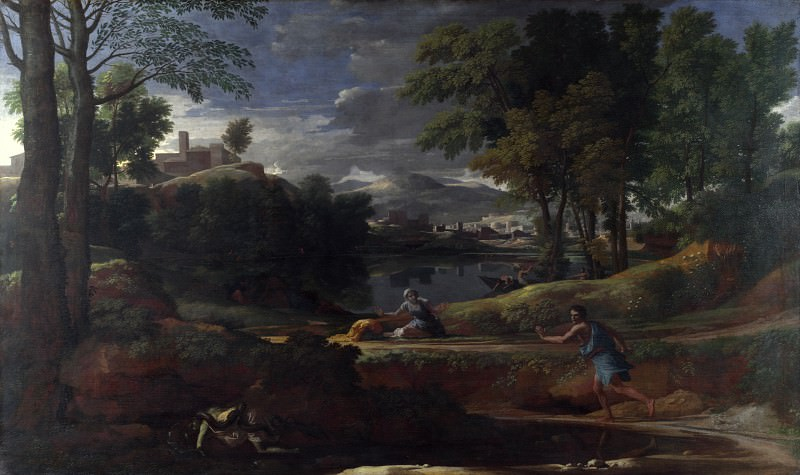 Landscape with a Man killed by a Snake, Nicolas Poussin