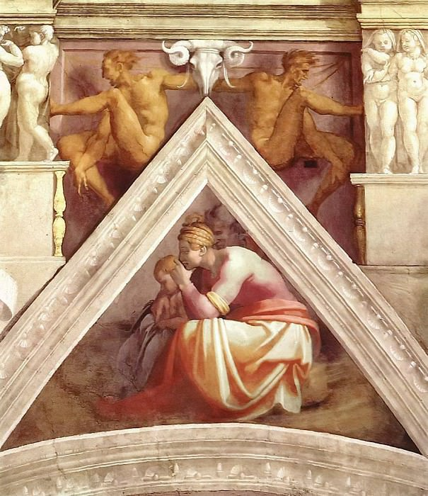 Solomon with his parents, Michelangelo Buonarroti