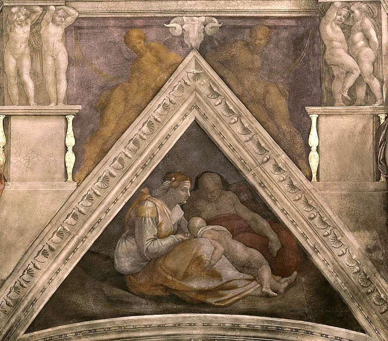 Zerubbabel together with his parents and a brother, Michelangelo Buonarroti