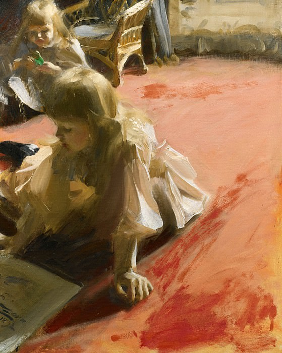 A Portrait Of The Daughters Of Ramon Subercasseaux, Anders Zorn