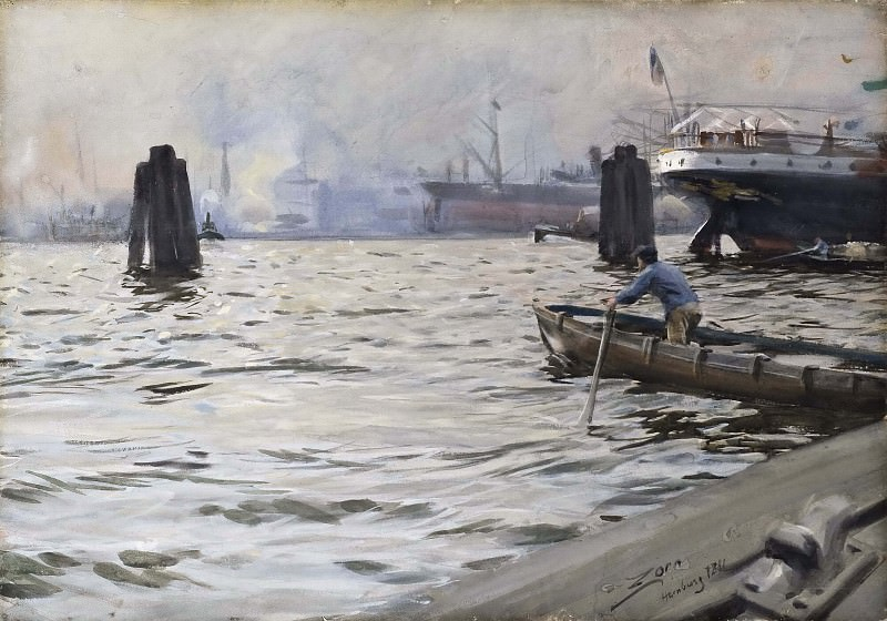 The Port of Hamburg, Anders Zorn