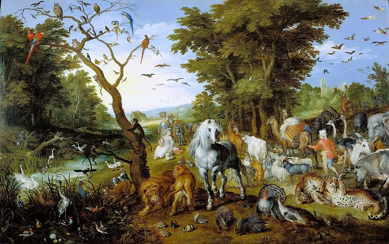 The Entry of the Animals into Noahs Ark, Jan Brueghel The Elder