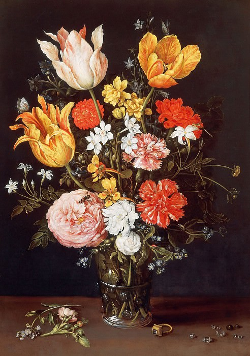 Vase of Flowers with Ring and Diamonds, Jan Brueghel The Elder