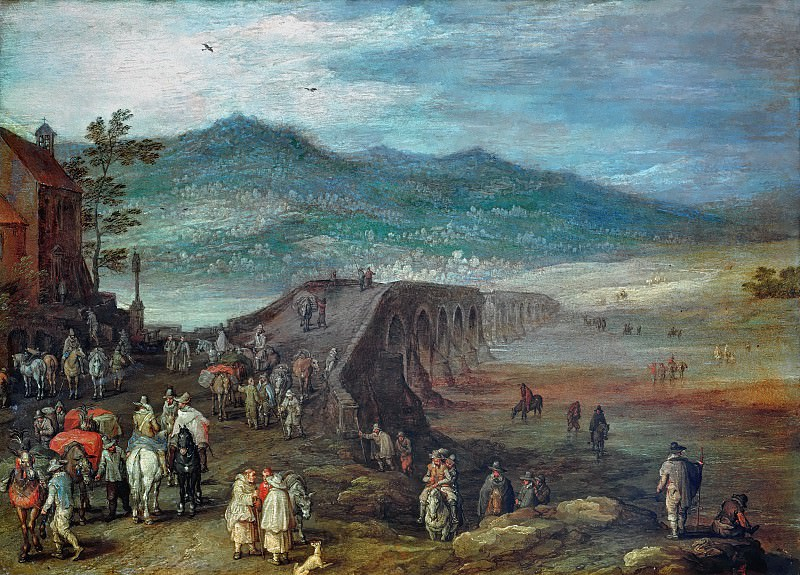 Bridge to Talavera, Jan Brueghel The Elder