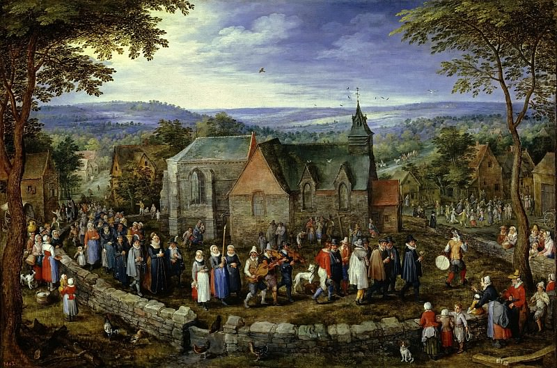 Country Wedding, Jan Brueghel The Elder