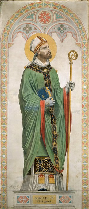 Saint Rupert, Bishop of Worms, Jean Auguste Dominique Ingres