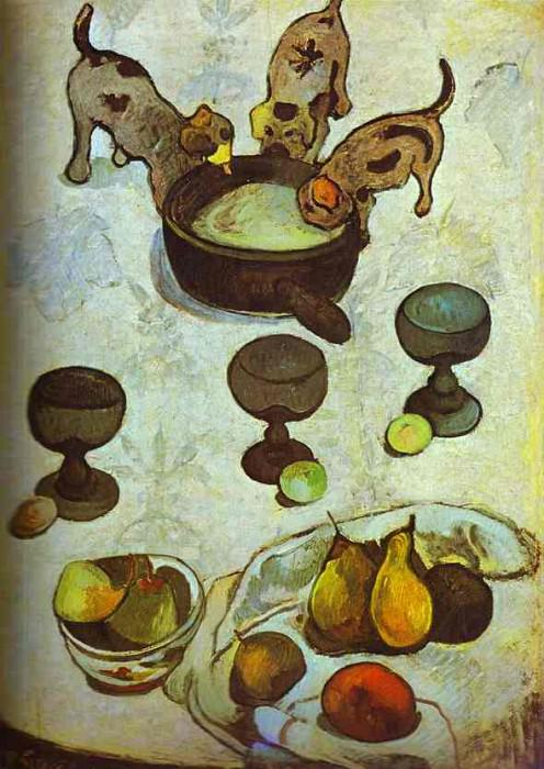 Still Life With Three Puppies, Paul Gauguin
