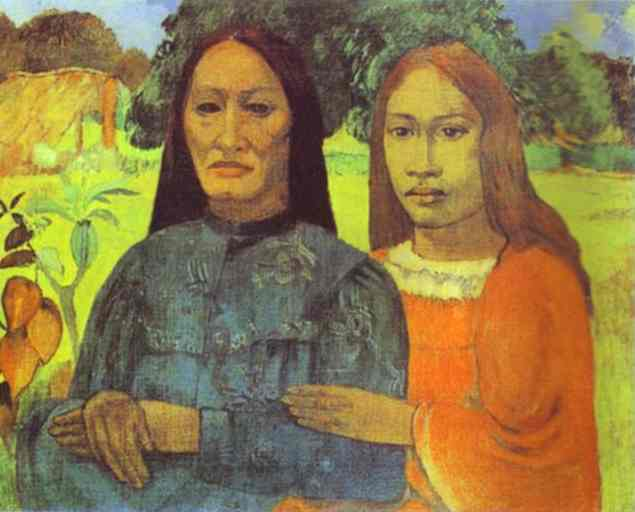 Mother And Daughter, Paul Gauguin