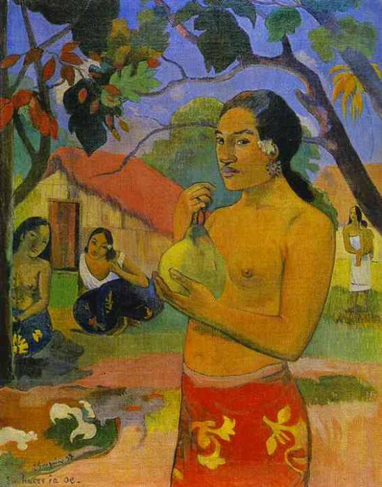 Eu Haere Ia Oe Woman Holding A Fruit, Paul Gauguin
