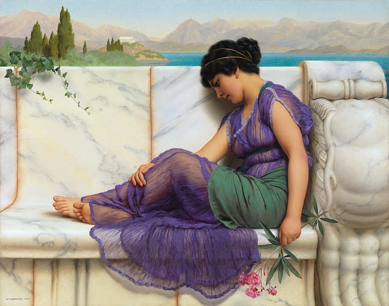 Day Dreams, John William Godward