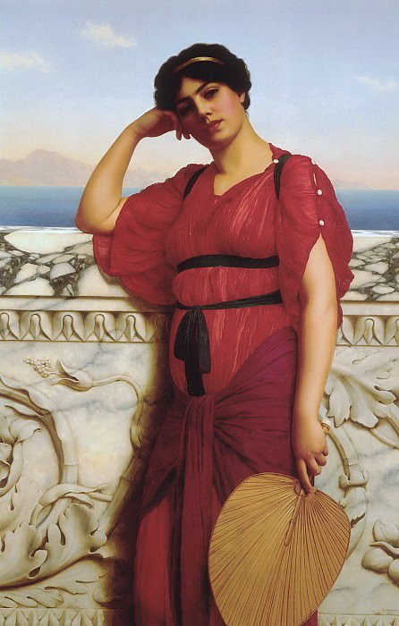A Classical Lady, John William Godward