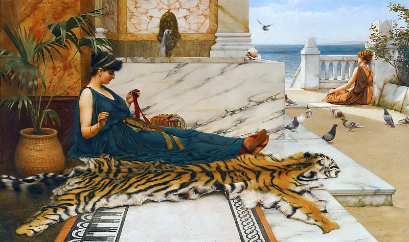 The Tigerskin, John William Godward