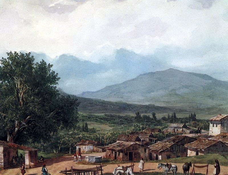 Village St. Rocca, near the town of Corfu. 1,835, Karl Pavlovich Bryullov