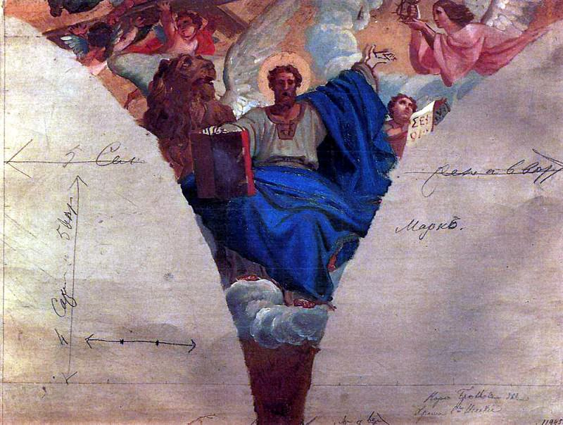 Mark the Evangelist. 1843-1847, Karl Pavlovich Bryullov