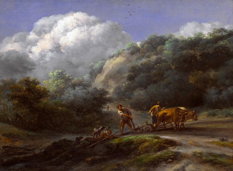 A Man and a Youth ploughing with Oxen, Nicolaes (Claes Pietersz.) Berchem
