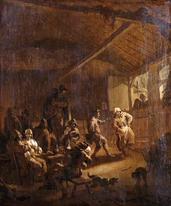 Peasant dance in a tavern, Nicolaes (Claes Pietersz.) Berchem