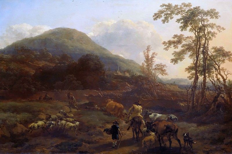 Drovers with the herd, Nicolaes (Claes Pietersz.) Berchem