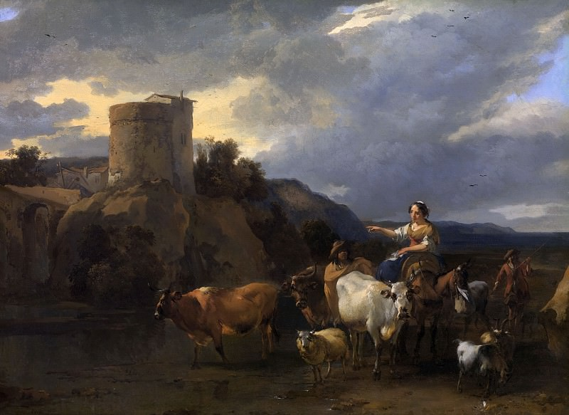 Back from the meadow, Nicolaes (Claes Pietersz.) Berchem