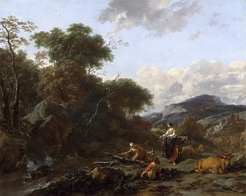 Landscape With Figures, Nicolaes (Claes Pietersz.) Berchem