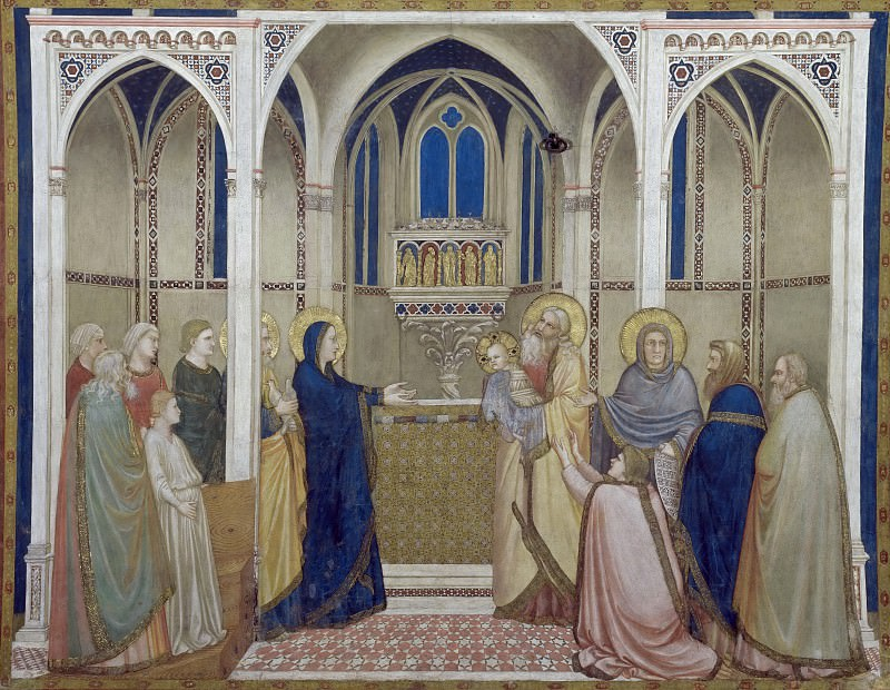 Frescoes of the north transept - Presentation of Christ in the Temple, Giotto di Bondone
