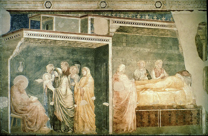 Peruzzi Chapel: Birth and Naming of the Baptist, Giotto di Bondone