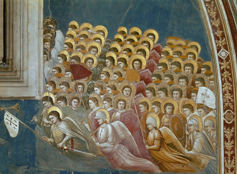 54 Last Judgment detail, Giotto di Bondone