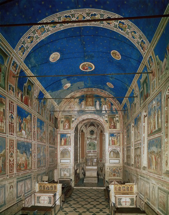 The Chapel viewed from the entrance, Giotto di Bondone