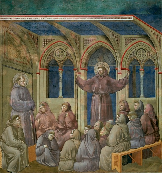 Legend of St Francis 18. Apparition at Arles, Giotto di Bondone