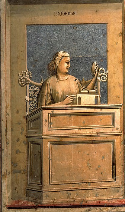 40 The Seven Virtues: Prudence, Giotto di Bondone