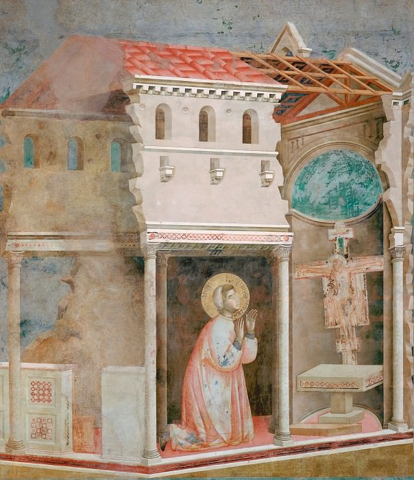 Legend of St Francis 04. Miracle of the Crucifix, Giotto di Bondone