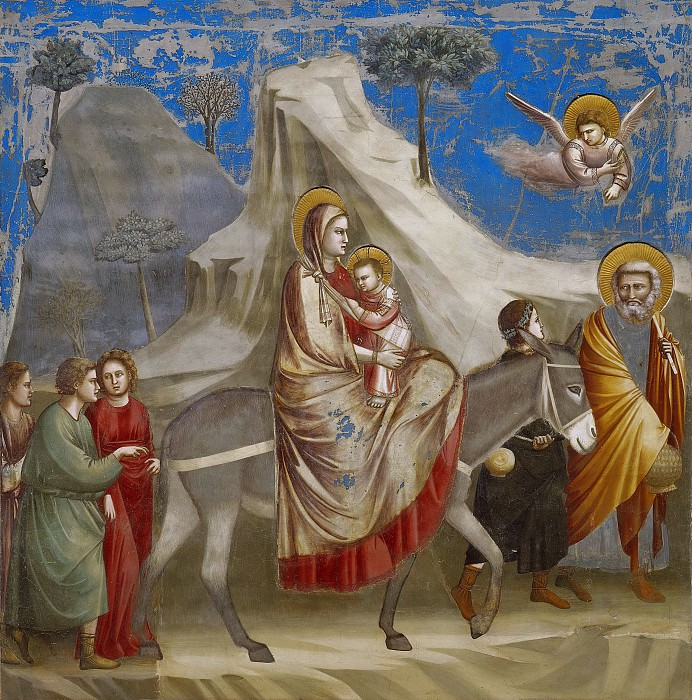 20. Flight into Egypt, Giotto di Bondone