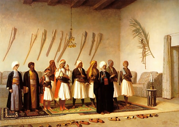 Prayer in the House of an Arnaut Chief, Jean-Léon Gérôme