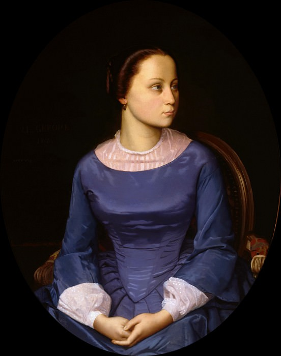 Young woman in blue, Jean-Léon Gérôme