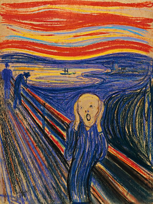 The Scream, ver. 1895, Edvard Munch