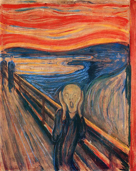 The Scream. ver. 1893, Edvard Munch