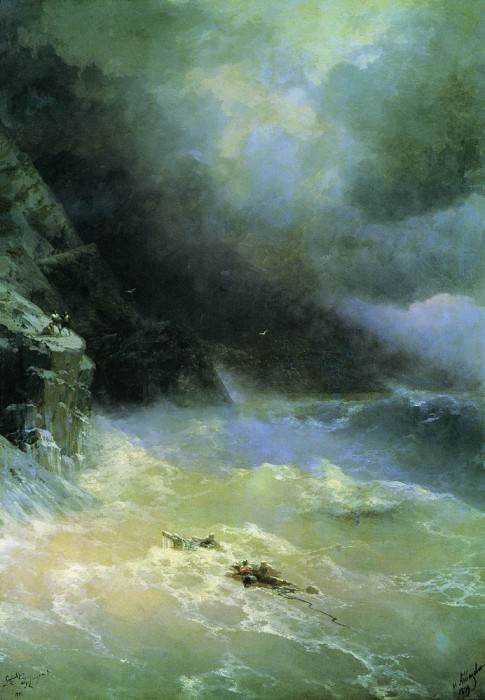 In the storm of 1899 152h107, Ivan Konstantinovich Aivazovsky