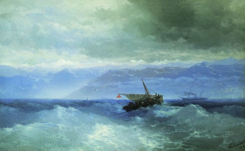Caucasus Mountains to the Sea 1899 59h94, Ivan Konstantinovich Aivazovsky