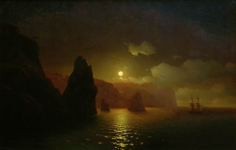 St Georges Monastery. Cape Fiolent 1846 122,5 h192, 5, Ivan Konstantinovich Aivazovsky