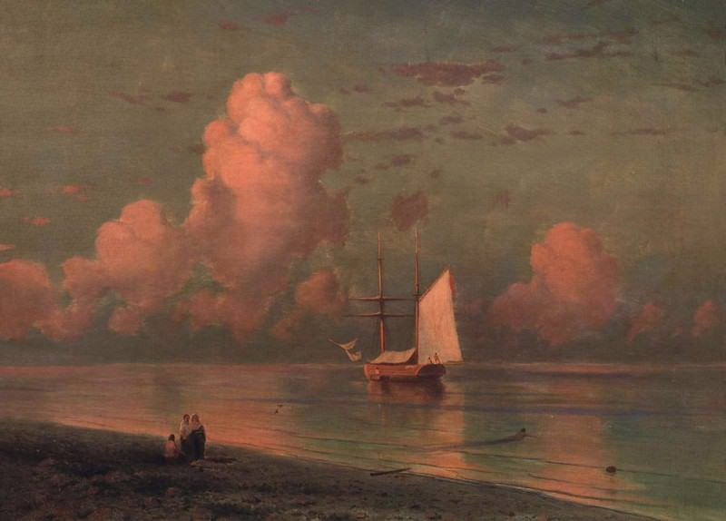 blue and pink cloud, Ivan Konstantinovich Aivazovsky
