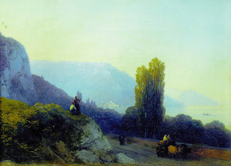 On the way to Yalta 1860 19,8 h27. 7, Ivan Konstantinovich Aivazovsky