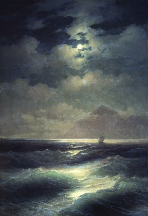 Sea view with the moon 1878 213,5 h148, Ivan Konstantinovich Aivazovsky