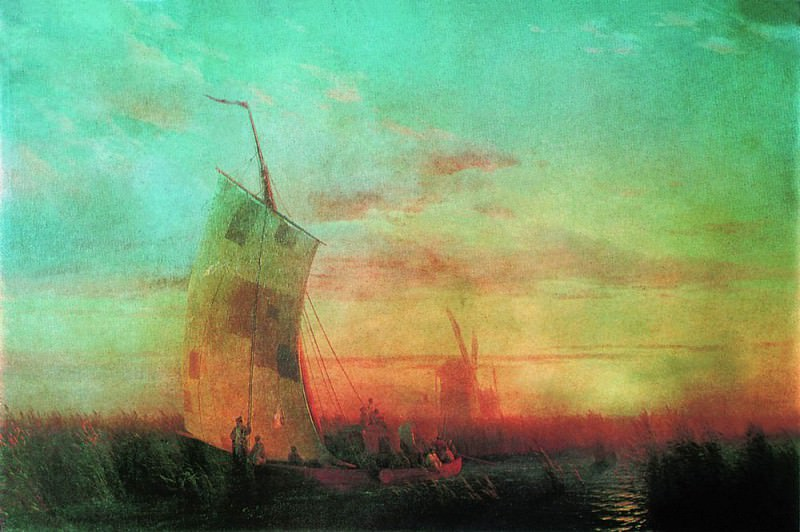 reeds on the Dnieper 1857 108h161, Ivan Konstantinovich Aivazovsky