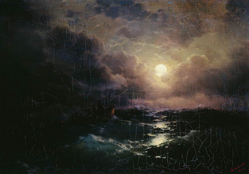 After the storm. Moonrise 1894 41h58, Ivan Konstantinovich Aivazovsky