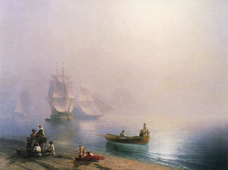 Morning in the Bay of Naples in 1873 70,4 h95, Ivan Konstantinovich Aivazovsky