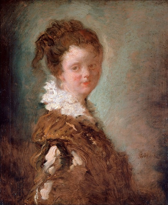 Portrait of a young woman, Jean Honore Fragonard