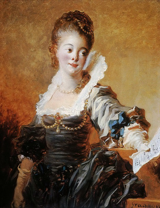 Portrait of a Singer Holding a Sheet of Music, Jean Honore Fragonard