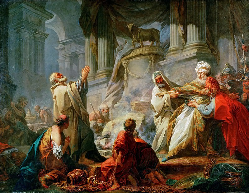 Jeroboam Offering Sacrifice for the Idol, Jean Honore Fragonard