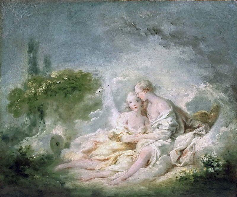 Jupiter And Callisto, Jean Honore Fragonard
